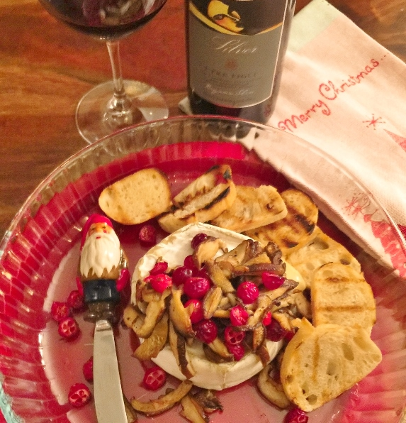 Warm Truffle Brie with Sauteed Mushrooms & Cranberries – Recipe! Image 1