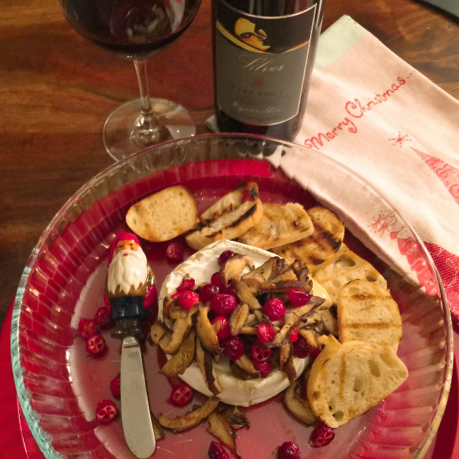 warm-truffle-brie-with-sauteed-mushrooms-fresh-cranberries-052-650x650