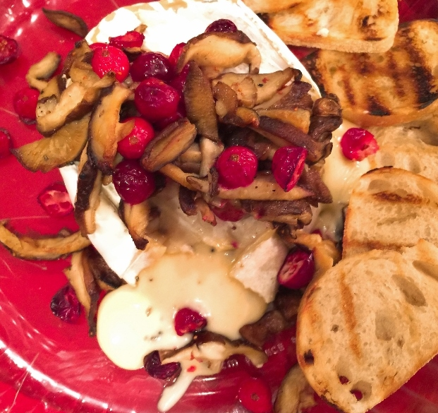 Warm Truffle Brie with Sauteed Mushrooms & Cranberries – Recipe! Image 2