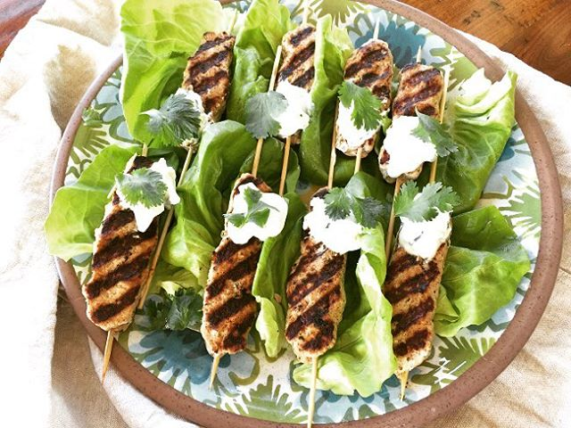 Healthy Delicious Eating  Turkey Kofta Kebabs with Tzatziki Sauce!hellip