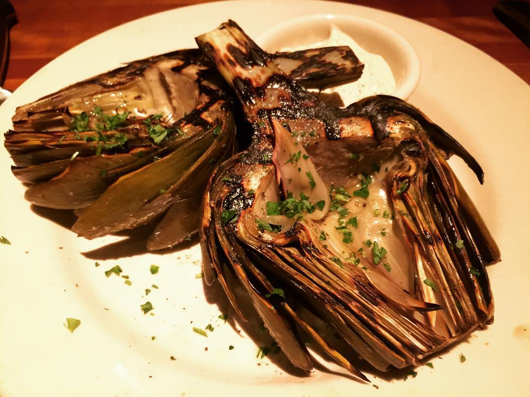 Grilled Artichoke at Hillstone in Santa Monica! Best in thehellip