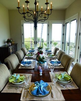 Spring Tablescape for Easter! More Pics and Recipes at wwwgenabellcomhellip