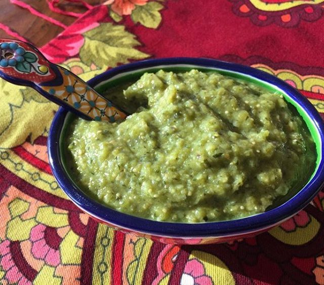 Freshly Roasted Tomatillo Salsa Recipe! Youll never eat the jarhellip