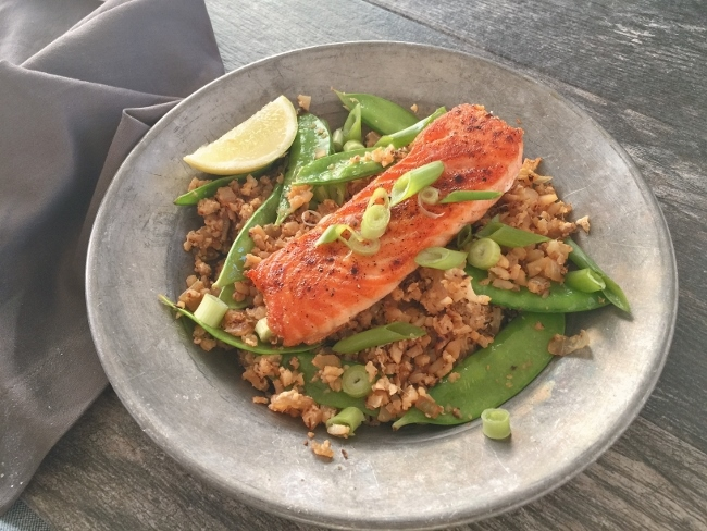 Asian Salmon Riced Cauliflower Bowls – Recipe! Image 2