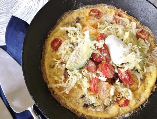 Bacon, Lettuce, Tomato & Avocado Frittata – Recipe!