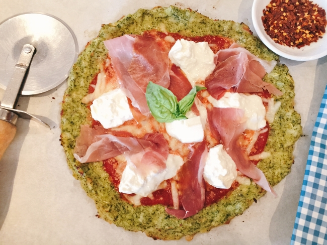 Broccoli Crust Burrata & Prosciutto Pizza – Recipe! Image 1