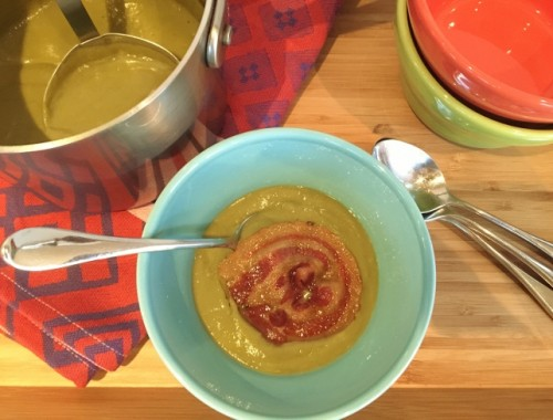 Broccoli Soup with Pancetta Crisps – Recipe!