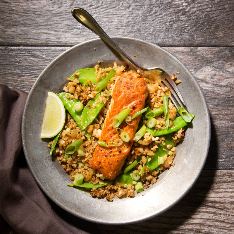 Asian Salmon Riced Cauliflower Bowls – Recipe! Image 3
