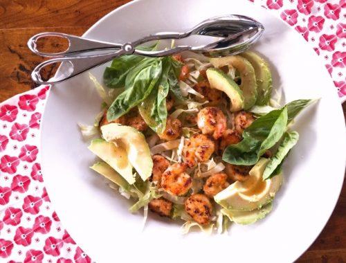 Crispy Shrimp & Avocado Salad – Recipe!