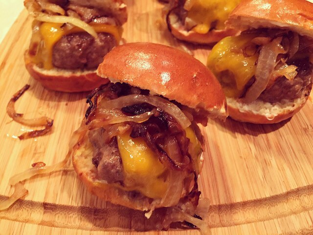 Beef amp Cheddars Sliders with Caramelized Onions! Juicy amp Meatyhellip