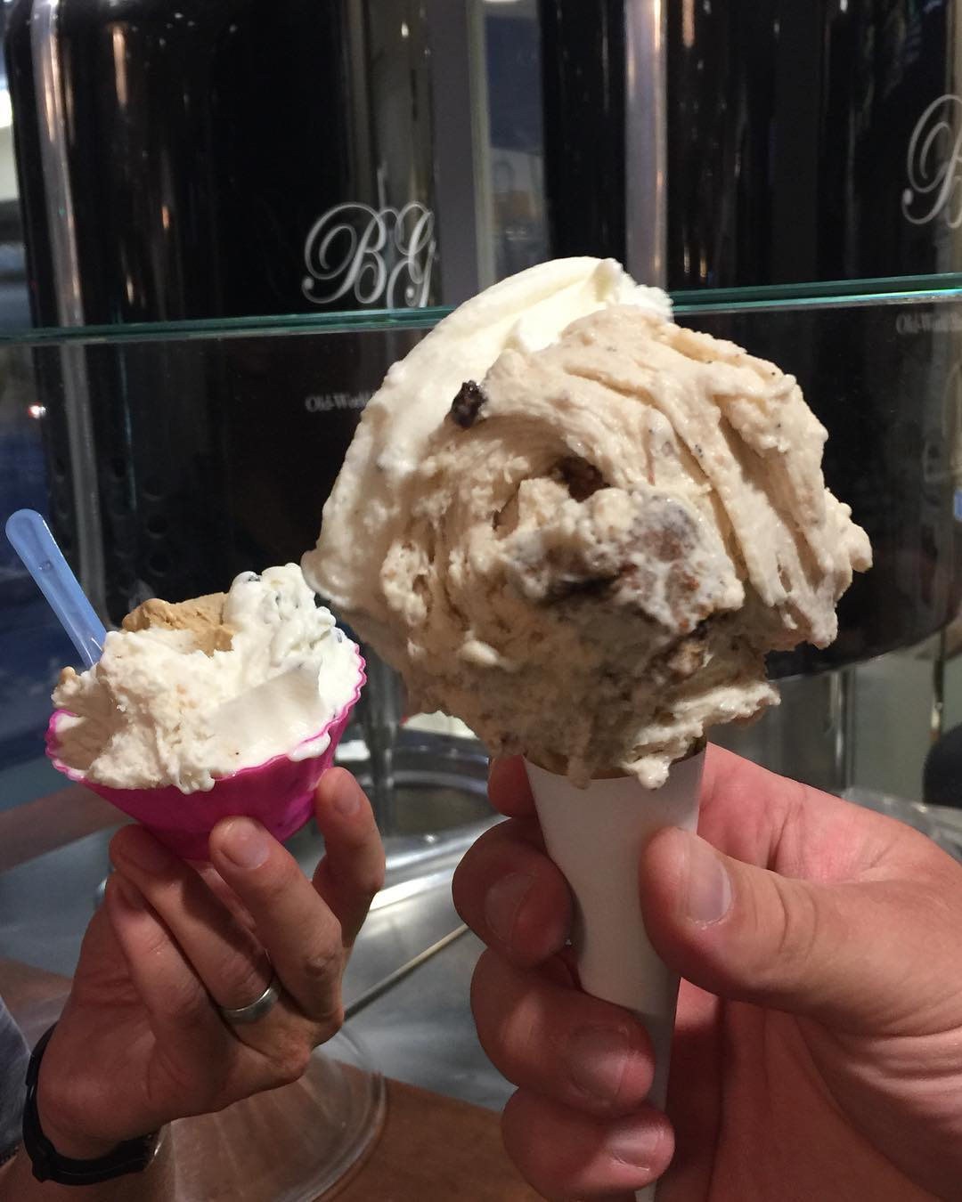 Bella Gelato  Vancouver! Florence Style! bellagelatovancouver gelato livelovelaughfood eaterhellip