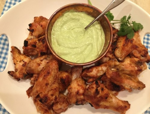 Crispy Baked Wings with Avocado Crema – Recipe!
