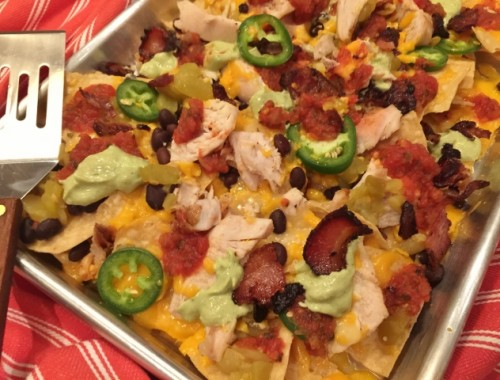 Roast Chicken & Bacon Nachos – Recipe!