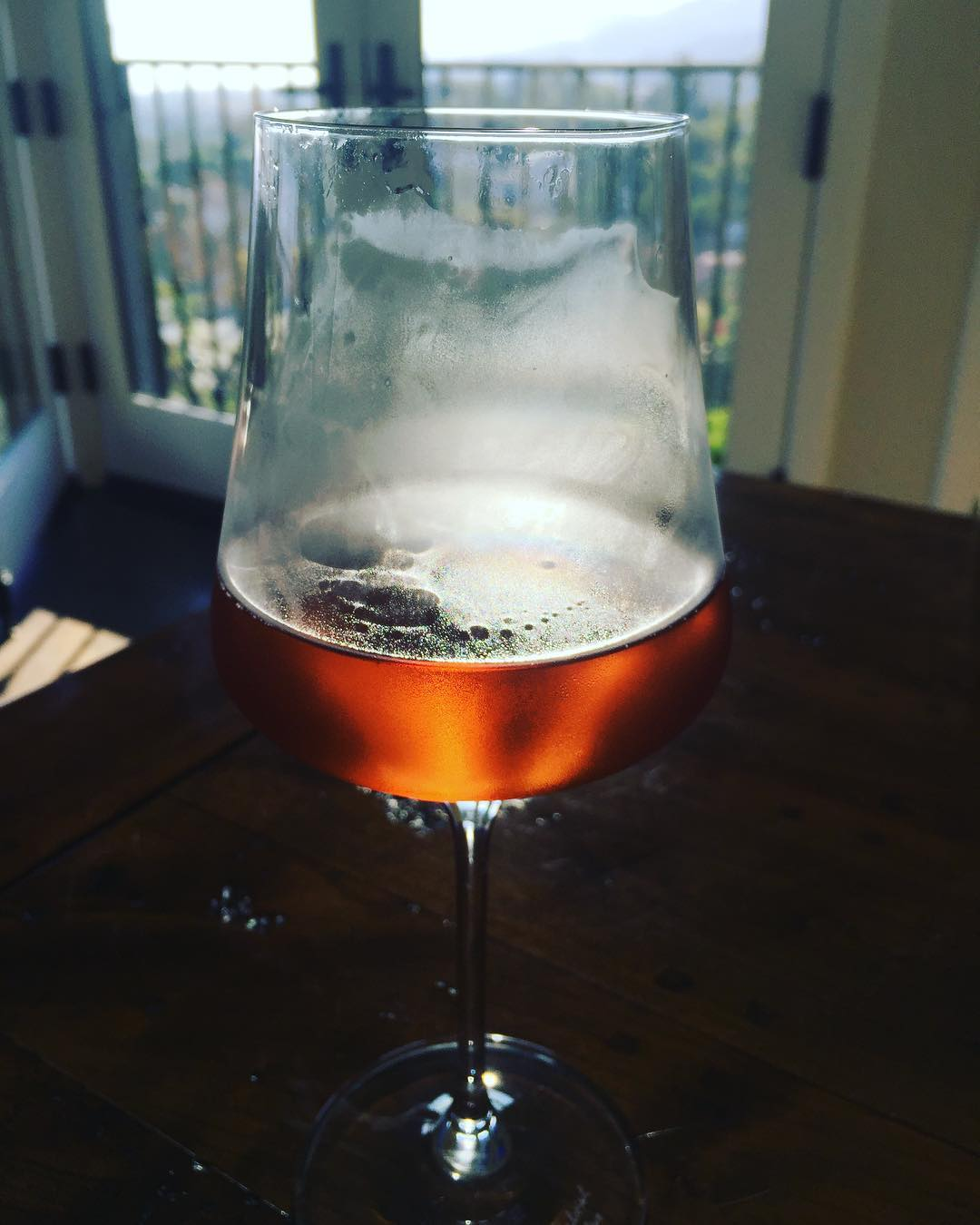 Cold glass of Rose Champagne on a warm summer evening!hellip