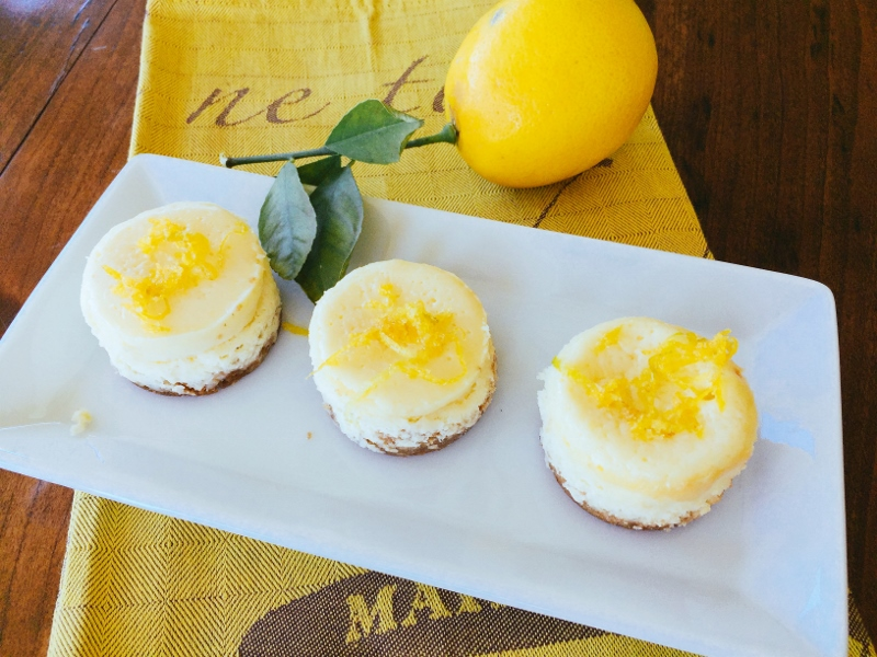 Petite Meyer Lemon Cheesecakes – Recipes! Image 1