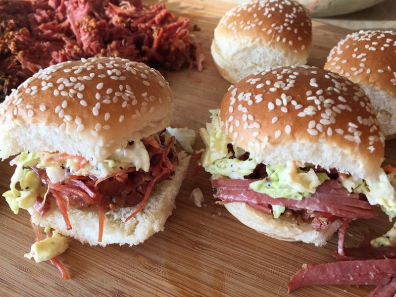Leftover Corned Beef & Honey Mustard Slaw Sliders – Recipe! Image 1