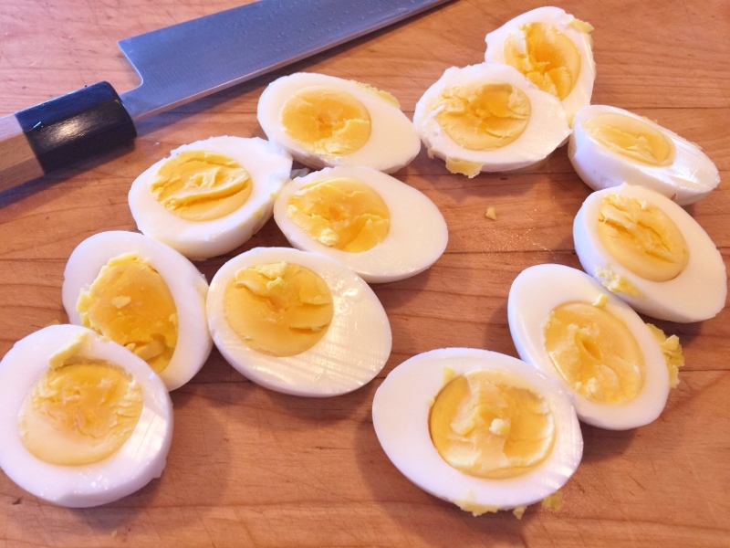 Deviled Eggs with Goat Cheese & Bacon – Recipe! Image 3
