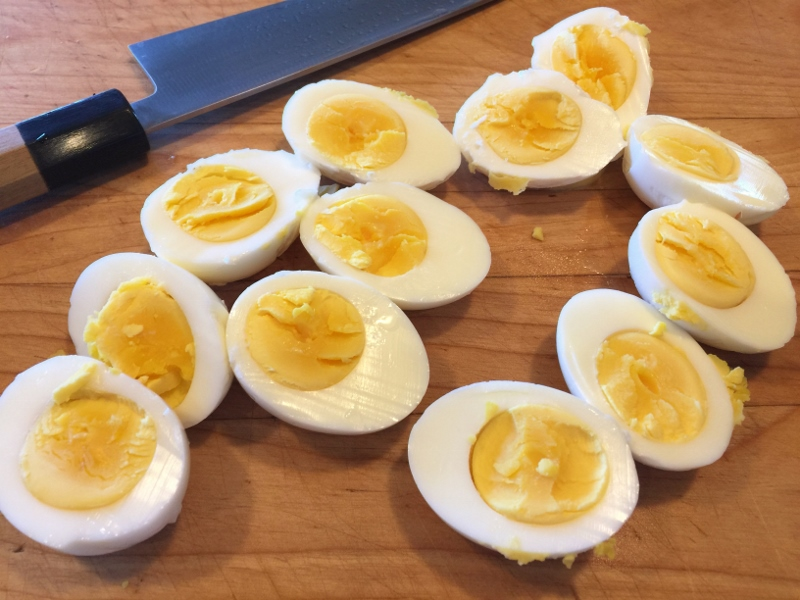 Goat Cheese Deviled Eggs with Bacon Crumbles – Recipe! Image 3