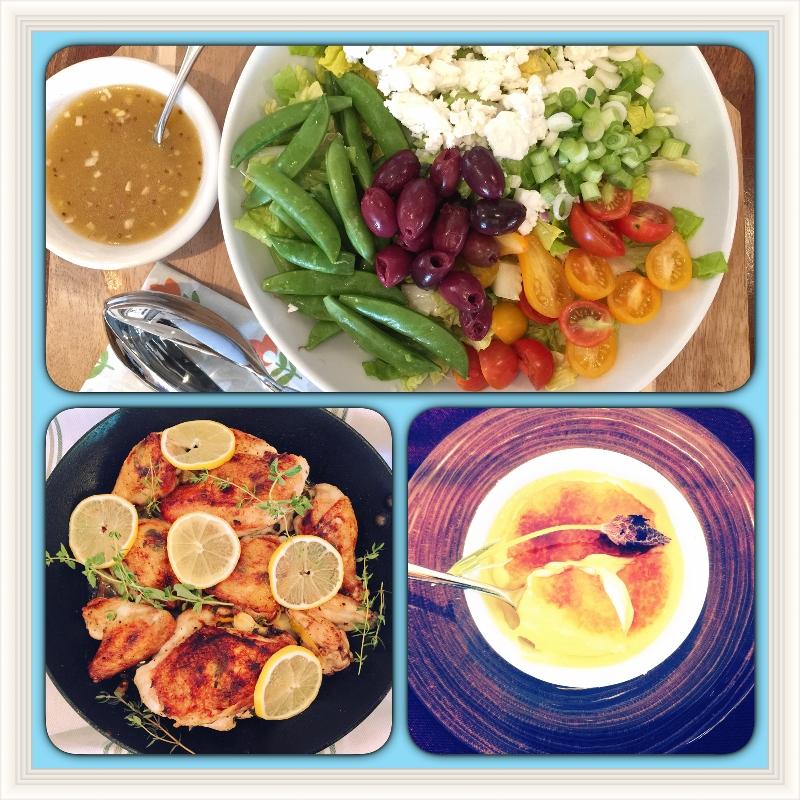 Social Sundays — Roasted Lemon Garlic Chicken, Spring Greek Salad and Lavender Creme Brulee! Image 1