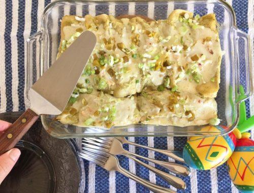 Rotisserie Chicken Enchiladas Verdes – Recipe!
