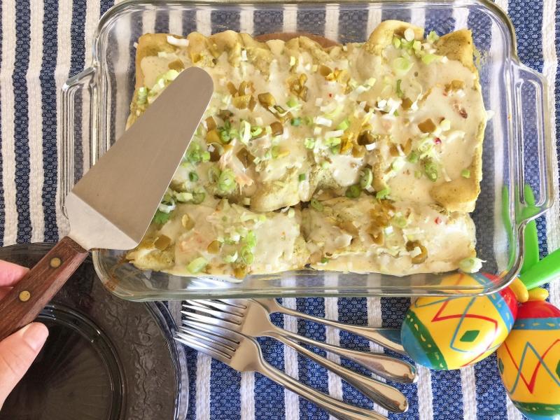 Rotisserie Chicken Enchiladas Verdes – Recipe! Image 1