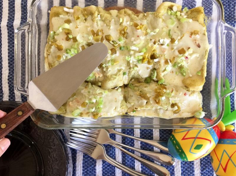 Rotisserie Chicken Enchiladas Verdes – Recipe! Image 2