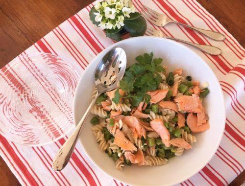 Springtime Salmon Pasta Salad – Recipe!  Gluten-Free!