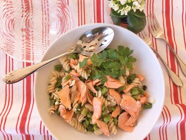 Springtime Salmon Pasta Salad – Recipe!  Gluten-Free! Image 2