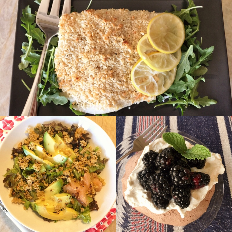 Social Sundays – Roasted Macadamia Halibut, Crispy Quinoa Avocado Salad, and Chocolate Chocolate-Chip Mini Meringues! Image 1