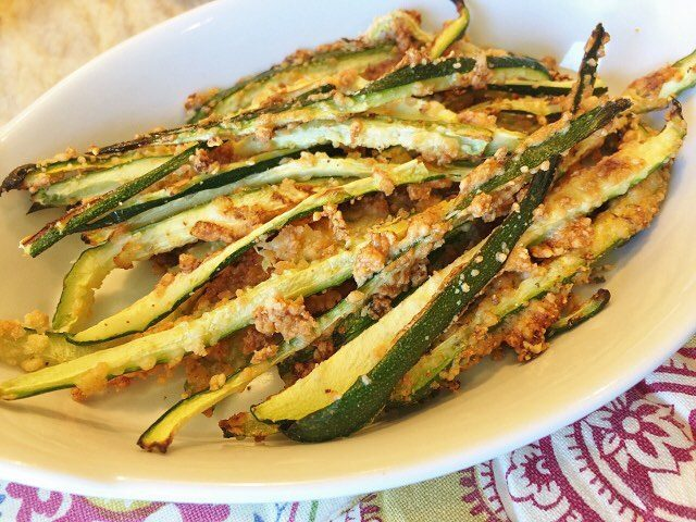 Crispy Parmesan Coated Italian Zucchini Fries  tap into these!!hellip