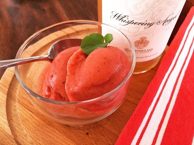 Chill Out with some Strawberry Basil amp Rose Wine Sorbet!hellip