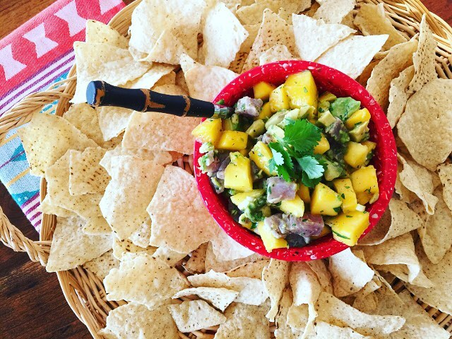 The best nocook meal  Summer Ceviche!! Tuna Mango Avocadohellip