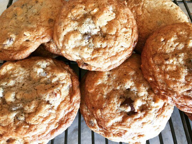 Oatmeal Chocolate Hazelnut Chunk Cookies! The perfect Road Trip Cookiehellip