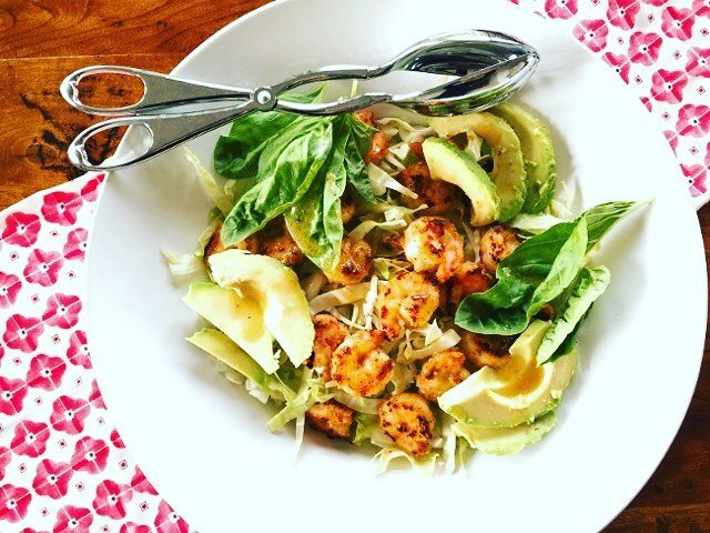 Crispy Shrimp amp Avocado Salad! Keep it simple amp freshhellip
