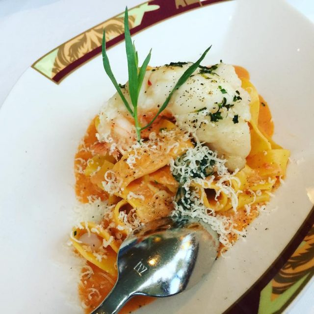 Lobster Pappardelle  Palo Restaurant Disney Cruise Alaska! livelovelaughfood disneycruisehellip