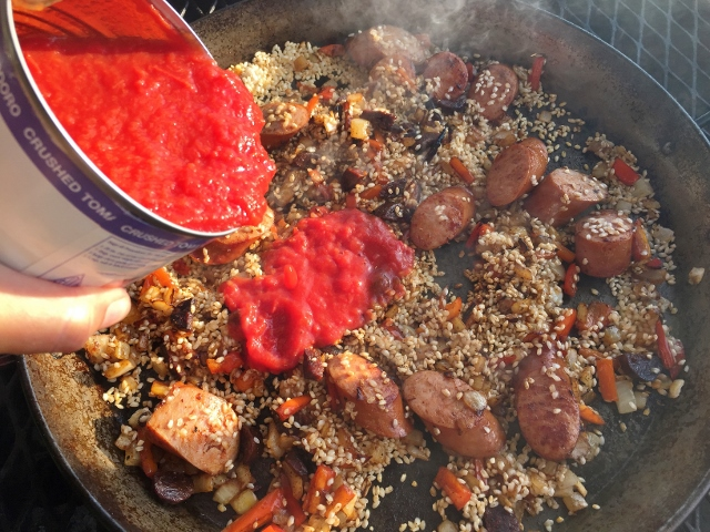 Seafood & Sausage Paella on the Grill – Recipe! Image 8