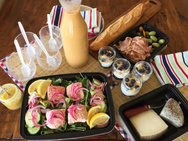 Social Sundays Picnic – Poached Salmon Salad with Quick Pickled Red Onions, Summer Gazpacho, and Blueberry Cheesecake in a Jar! Image 1