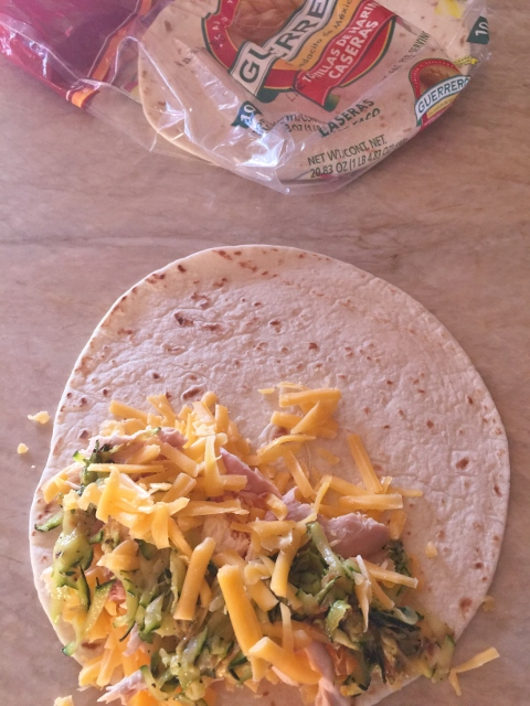 Chicken, Cheddar & Sauteed Zucchini Quesadillas – Recipe! Image 5