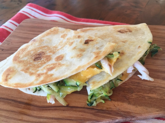 Chicken, Cheddar & Sauteed Zucchini Quesadillas – Recipe! Image 2