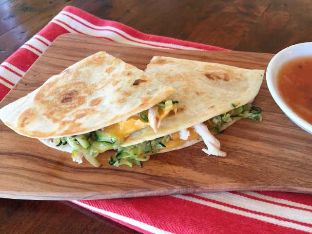 Chicken, Cheddar & Sauteed Zucchini Quesadillas – Recipe! Image 1