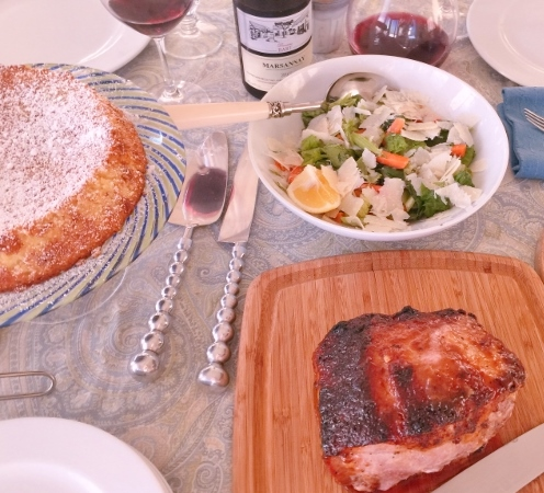 Social Sundays – Pork Loin with Peachy Mustard Glaze, Carrot & Celery Salad, and Lemon Almond Flourless Cake! Image 1