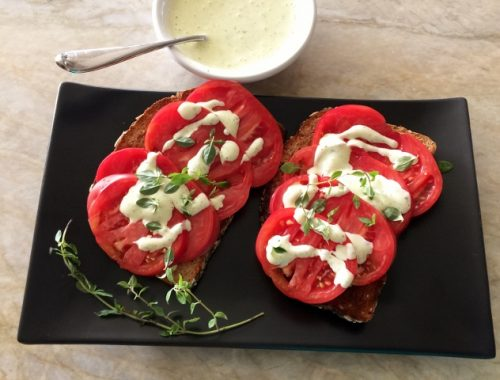 Heirloom Tomato Toasts with Thyme Aioli – Recipe!