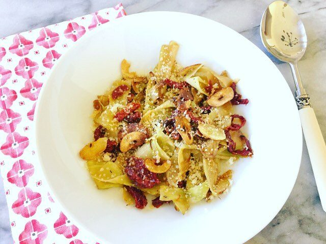Meatless Monday Madness  Broccoli Pappardelle with Sun Dried Tomatoeshellip