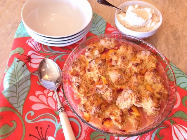 Peach Cobbler with Vanilla Bean Whipped Cream – Recipe! Image 2