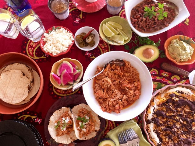 Social Sundays – Chicken Tinga Taco Party with Anasazi Bacon Beans, and Mexican Ice Cream Pie! Image 1