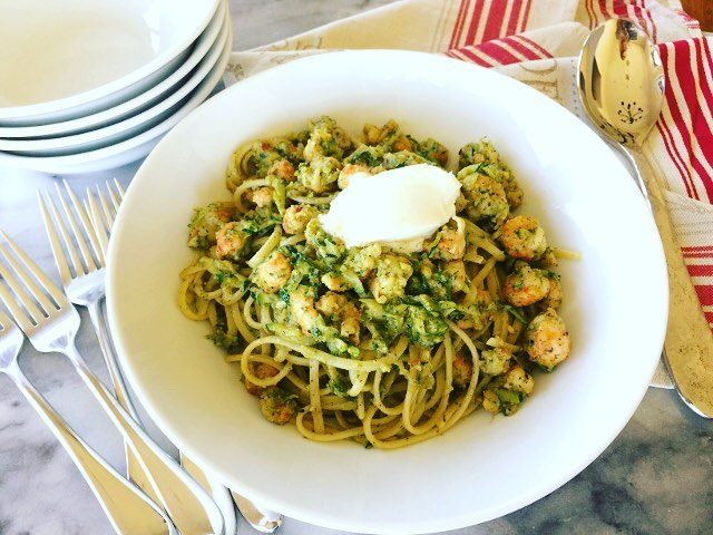 Who doesnt love Lobster?? This Langoustine Arugula Pesto Pasta hashellip