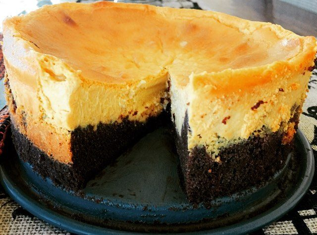 In case you missed it  Pumpkin Cheesecake with Browniehellip