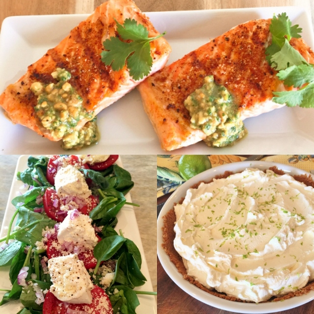 Social Sundays Labor Day Weekend Menu: Grilled Argentinian Salmon, Tomato & Burrata Spinach Salad, and Key Lime Pie! Image 1