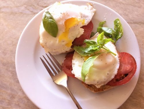 Heirloom Tomato & Basil Egg Tartines – Recipe!