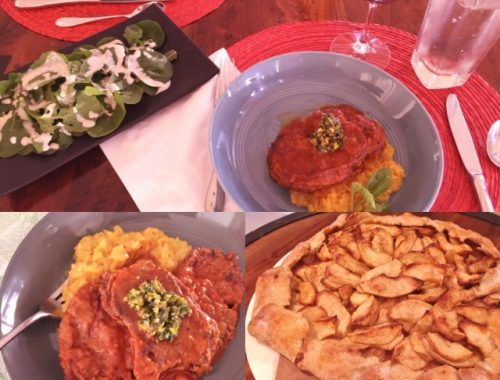 Social Sundays – Osso Bucco, Risotto Milanese, and Apple Crostata with Video!